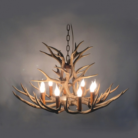 High quality american country style one tier resin deer horn one tier antler deer horn chandelier mozeypictures Gallery