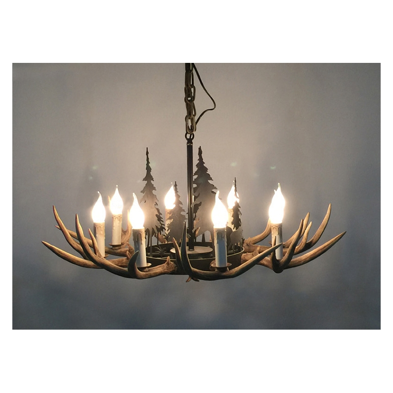 Christmas Tree Made Of Deer Antlers: High Quality American Country Style Iron Christmas Tree