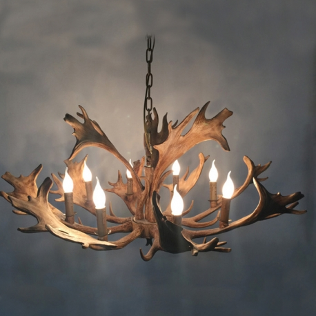 High quality american country style rustic moose 4 chandelier deer 4 moose antler deer horn chandelier mozeypictures Images