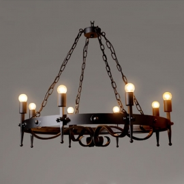 Industrial Vintage Iron 8 Lights Chandelier