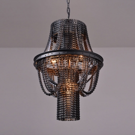 Vintage Bicycle Chain Wheel Rim Chandelier