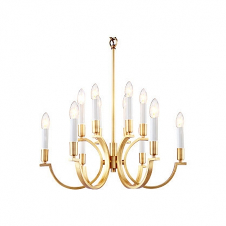New Classical Brass Copper Vintage Chandelier