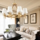 New Classical Brass Copper Chandelier with Lampshade