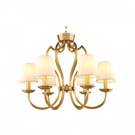 New Classical Vintage Qulity Brass Copper Chandelier with Linen