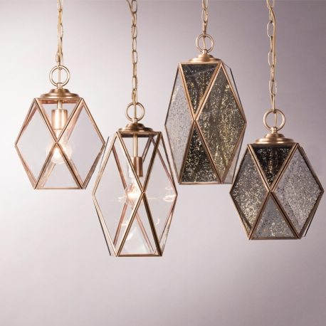 Vintage Brass Pendant Light