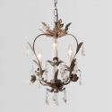 K9  Crystal Palais Iron Leaf Pendant Light