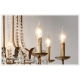 French Palais Vintage Candlestick Crystal Chandelier