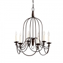 Armonk Iron Cage Indoor/Outdoor Chandelier 25.5""