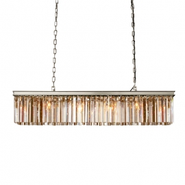 High quality Replica RH Rhys Clear Glass Prism Rectanguilar Crystal Chandelier