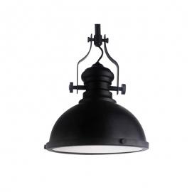20TH C. Factory Industrial Vintage Iron Pendant Light