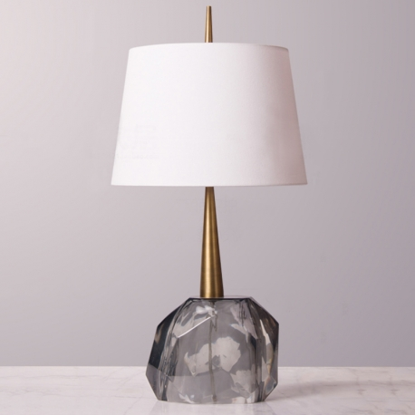 New Modern Green Grey Geometric Resin Table Lamp