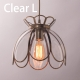 Glazed Glass Clear Glass Pendant Lamp