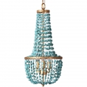 Turquoise Beads Metal Chandelier