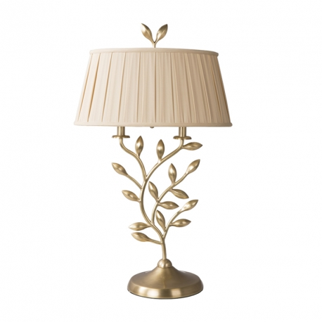 GOLDEN BRASS LEAF BRANCH TABLE LAMP
