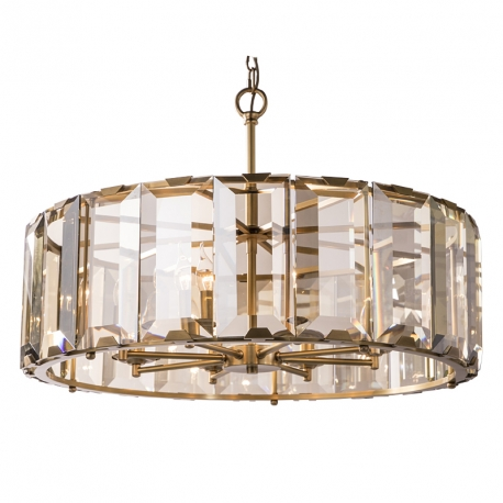 INDUSTRIAL HARLOW CRYSTAL CHANDELIER