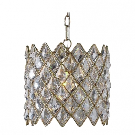 Crown K9 Crystal Golden Chain Pendant Light