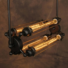 American Industrial Grand Edison Glass 4-Bulb Pendant