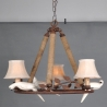Country Style Iron Rope and Resin birds Chandelier Light