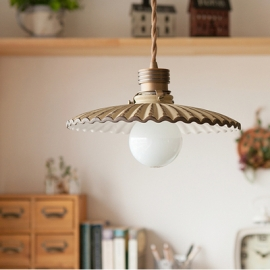 Country Style Pendant Light Porcelain Lampshade