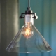 Vintage Industrial Edison Glass Pendant Light