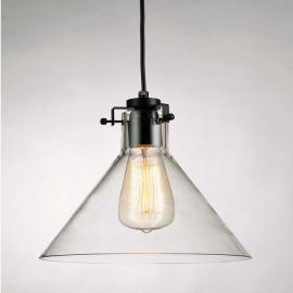 Vintage Industrial Edison Glass Pendant Light