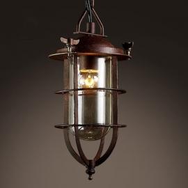 Vintage Industrial Edison Pendant Light Rustic Lampshade