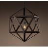 Industrial Vintage Steel Polyhedron Edison Pendant  Light