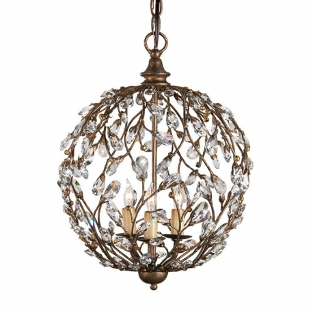 Country Style Vintage Branch Crystal Pendant Light