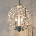 Country Style Vintage Flower Crystal Rococo Palais wedding Pendant Light lamp