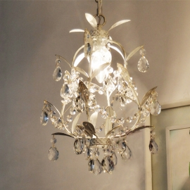 Country Style Vintage K9 tree Branch Crystal Rococo Palais Pear Pendant Light lamp