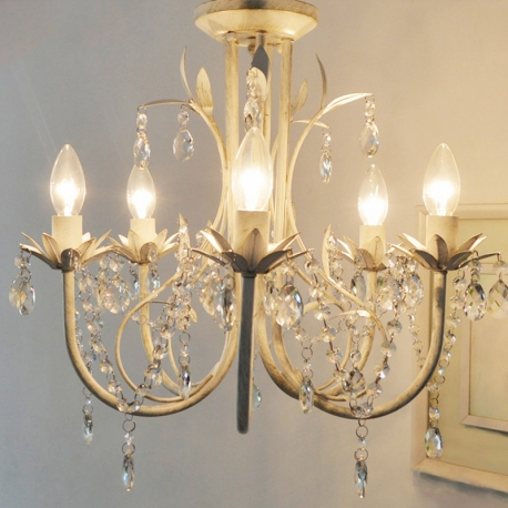 Country style vintage k9 crystal rococo palais chandelier tree country style vintage k9 crystal rococo palais chandelier tree branch leaf 5 lights lamp aloadofball Images