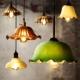 Industrial Edison Pendant Light Vintage Retro Colorful Glass Lamp