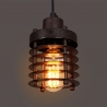 Edison Vintage Wrought Iron Cage Pendant Light Lamp