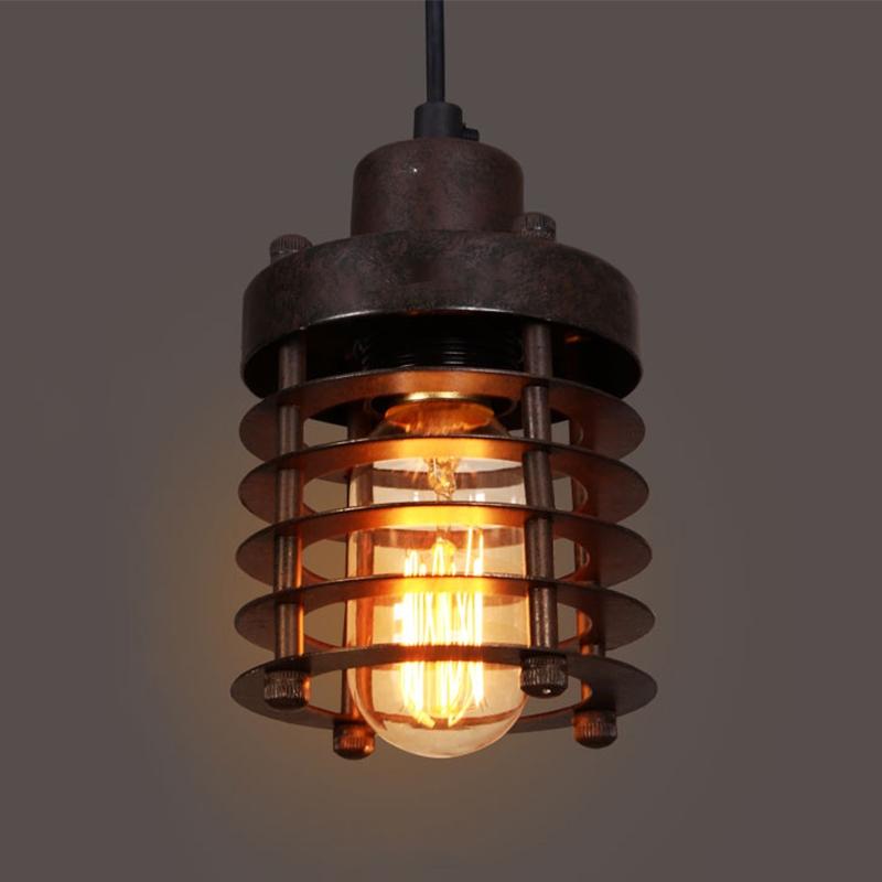 edison vintage wrought iron cage pendant light lamp. Black Bedroom Furniture Sets. Home Design Ideas