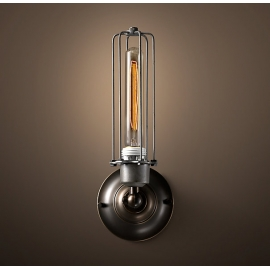 Edison Caged Sconce Vintage Wall Lamp