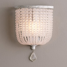 Dauphine Frosted Glass Demilune Wall Lamp