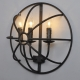 Wrought Iron Cage Hemisphere Wall Lamp