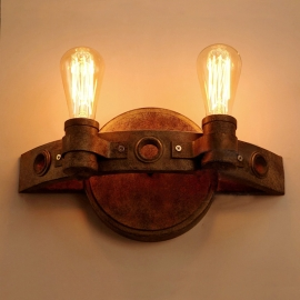 Industrial Edison Style Vintage Rusty Iron Wall Lamp