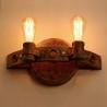 Industrial Edison Style Vintage Rusty Iron Wall Lamp