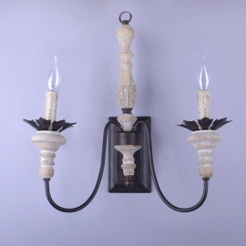 Country Leaf Tree Art Deco Wall Lamp