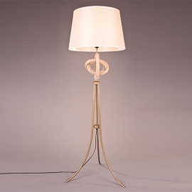 Country Style Rope Floor Lamp with Lampshade