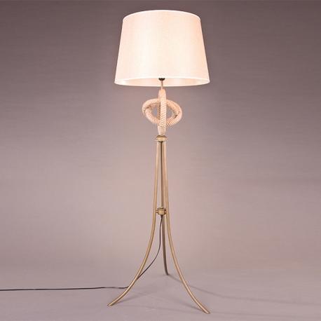 Country style vintage lamp bedroom floor lamp linen rope for Country chic bedroom floor lamp