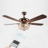 "52"" Led Crystal Ceiling Fan Light"