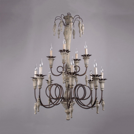 america style rh vintage country wood made work chandelier lamp