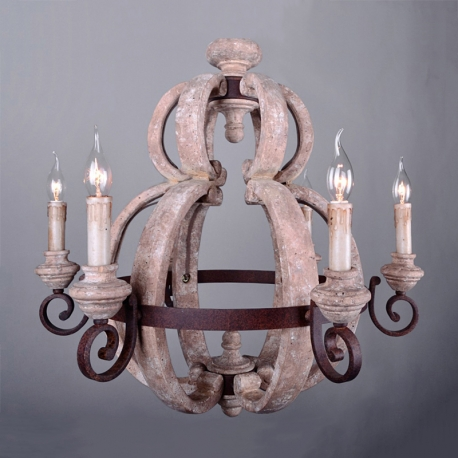 America style industry country chandelier iron wood made wooden cut vintage wood candelabra chandelier aloadofball Image collections