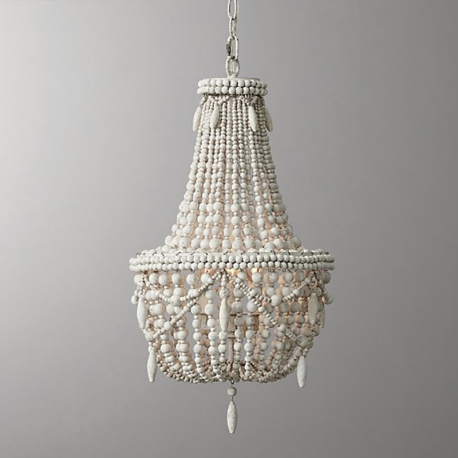 Replica item america style anselme large chandelier weathered white rh anselme white wood bead chandelier aloadofball Image collections