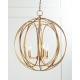 Industrial Vintage Glass Lampshade with Edison bulbs