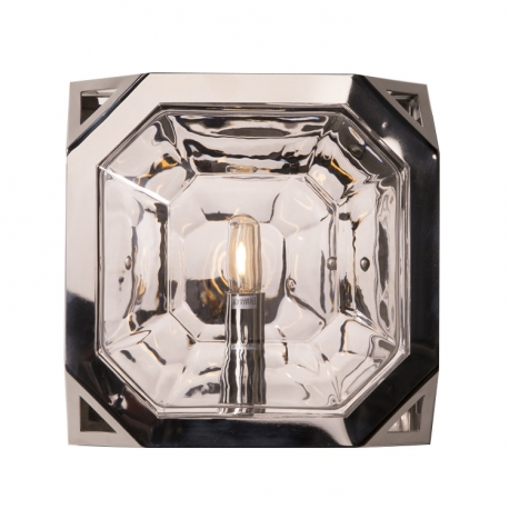 Industrial Vintage Style Polished Nickel Wall Sconce
