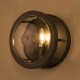 Vintage Round Clear Glass Wall Sconce