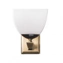 Greta Vintage Glass Brass Wall Sconce